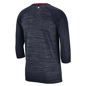 Nike Men's Boston Red Sox 3/4 Sleeve Raglan Logo Tee
