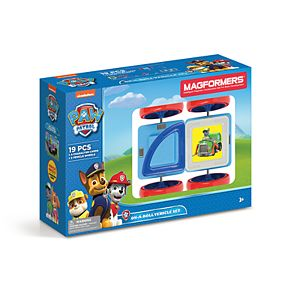Magformers Paw Patrol 19-piece On A Roll Vehicle Set