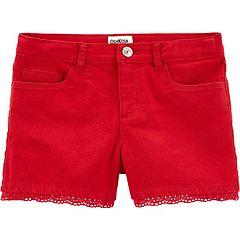 Girls 4-14 OshKosh B'gosh® Star Eyelet Twill Shorts