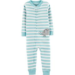 Baby Boy Little Planet Organic Striped Coverall