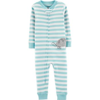 Toddler Boy Little Planet Organic Striped Coverall