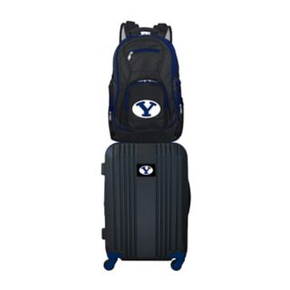 BYU Cougars Wheeled Carry-On Luggage & Backpack Set
