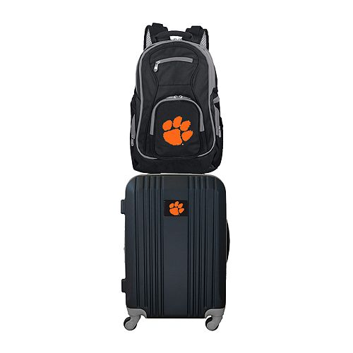 Clemson Tigers Wheeled Carry-On Luggage & Backpack Set