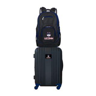 UConn Huskies Wheeled Carry-On Luggage & Backpack Set