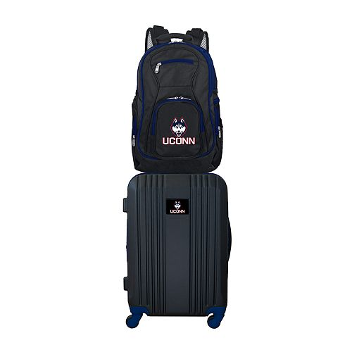 UConn Huskies Wheeled Carry-On Luggage & Backpack Set