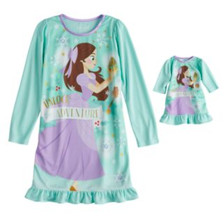 Disney's The Nutcracker and the Four Realms Girls 4-12 Clara Nightgown & Matching Doll Nightgown
