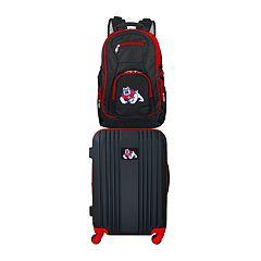 Fresno State Bulldogs Wheeled Carry-On Luggage & Backpack Set