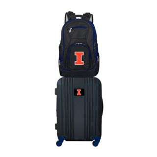 Illinois Fighting Illini Wheeled Carry-On Luggage & Backpack Set