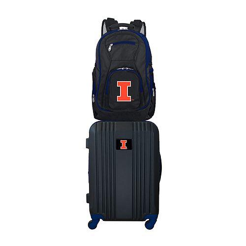 Illinois Fighting Illini Wheeled Carry-On Luggage & Backpack Set