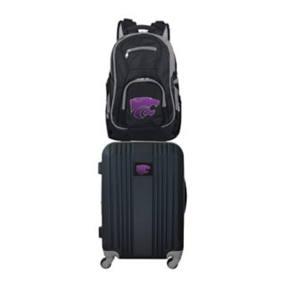 Kansas State Wildcats Wheeled Carry-On Luggage & Backpack Set