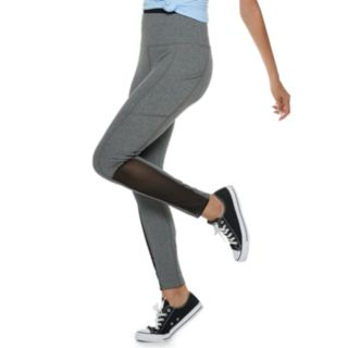 Juniors' SO® High-Waisted Mesh Yoga Leggings