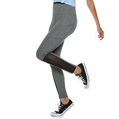 Juniors' SO® High-Waisted Mesh Yoga Leggings