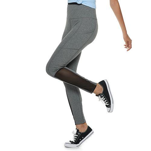 1e5bf603864ac Juniors' SO® High-Waisted Mesh Yoga Leggings