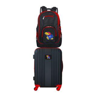 Kansas Jayhawks Wheeled Carry-On Luggage & Backpack Set