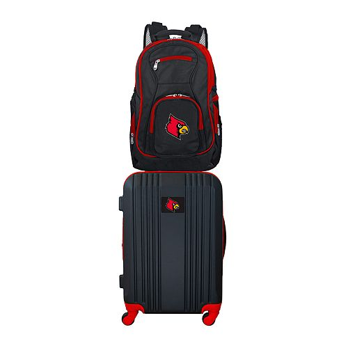 Louisville Cardinals Wheeled Carry-On Luggage & Backpack Set