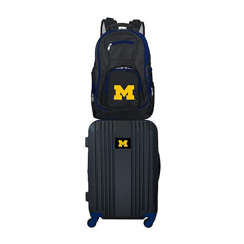 Michigan Wolverines Wheeled Carry-On Luggage & Backpack Set