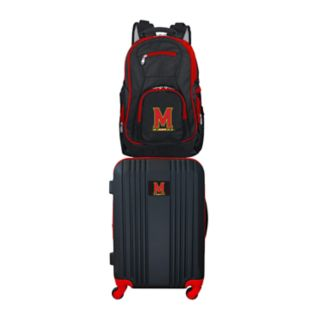 Maryland Terrapins Wheeled Carry-On Luggage & Backpack Set