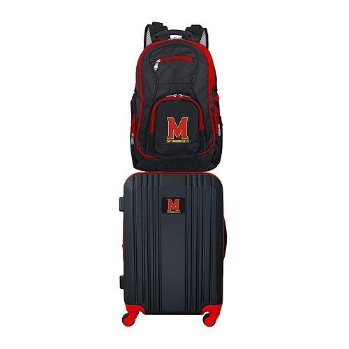 Maryland Terrapins Wheeled Carry-On Luggage & Backpack Set