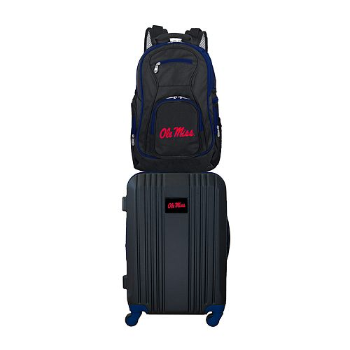 Ole Miss Rebels Wheeled Carry-On Luggage & Backpack Set