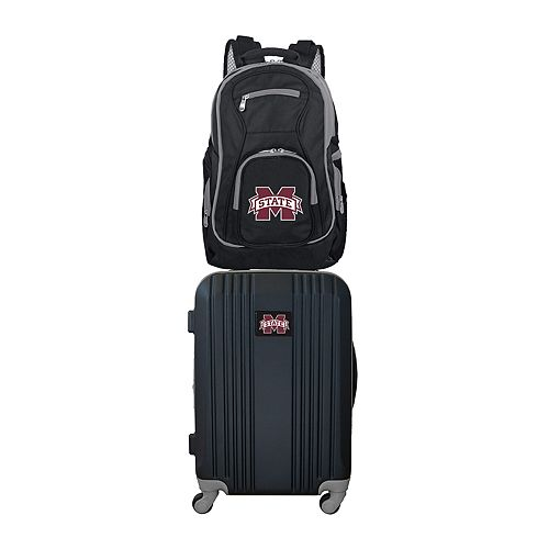 Mississippi State Bulldogs Wheeled Carry-On Luggage & Backpack Set