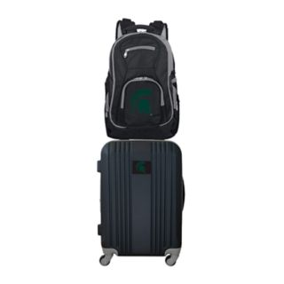 Michigan State Spartans Wheeled Carry-On Luggage & Backpack Set