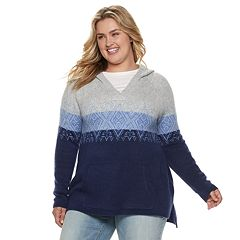 Plus Size SONOMA Goods for Life™ Fairisle Hoodie