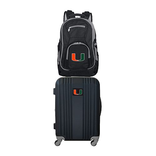 Miami Hurricanes Wheeled Carry-On Luggage & Backpack Set
