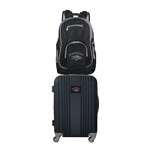 Nevada Wolf Pack Wheeled Carry-On Luggage & Backpack Set