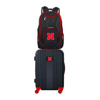 Nebraska Cornhuskers Wheeled Carry-On Luggage & Backpack Set