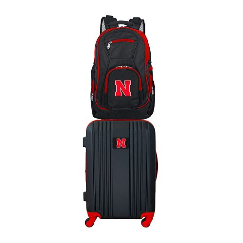 Nebraska Cornhuskers Wheeled Carry-On Luggage & Backpack Set