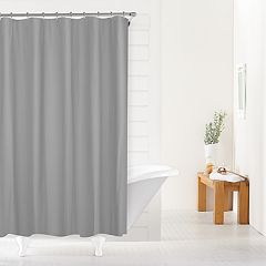 SONOMA Goods For LifeTM Heavy Weight Fabric Shower Curtain Liner Gray Linen White