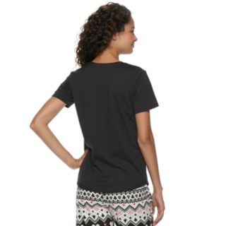 Juniors' SO® Graphic Pajama Tee
