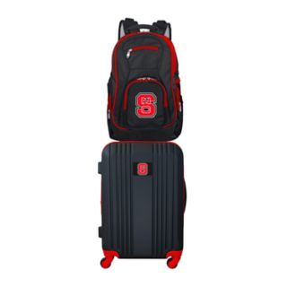 North Carolina State Wolfpack Wheeled Carry-On Luggage & Backpack Set