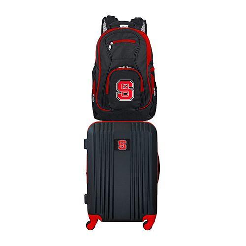 North Carolina State Wolfpack Wheeled Carry-On Luggage & Backpack Set