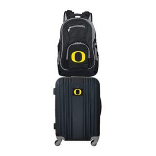 Oregon Ducks Wheeled Carry-On Luggage & Backpack Set