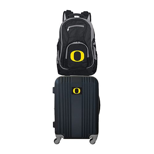 Oregon Ducks Wheeled Carry-On Luggage & Backpack Set