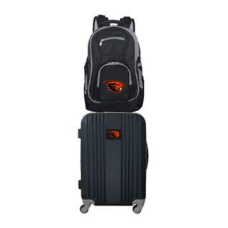 Oregon State Beavers Wheeled Carry-On Luggage & Backpack Set