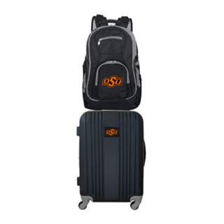 Oklahoma State Cowboys Wheeled Carry-On Luggage & Backpack Set