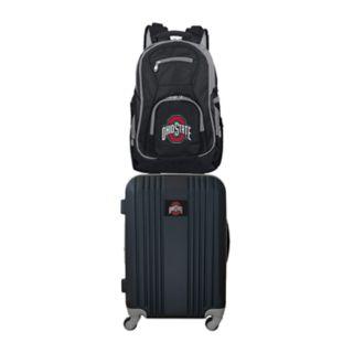Ohio State Buckeyes Wheeled Carry-On Luggage & Backpack Set