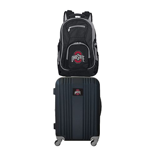 Ohio State Buckeyes Wheeled Carry-On Luggage & Backpack Set