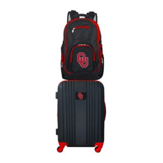 Oklahoma Sooners Wheeled Carry-On Luggage & Backpack Set