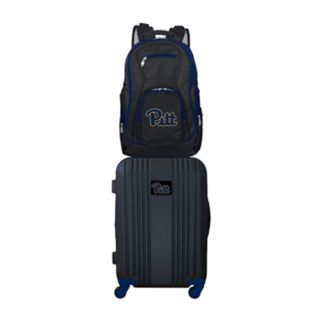 Pitt Panthers Wheeled Carry-On Luggage & Backpack Set