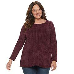 Plus Size Dana Buchman Chenille Tunic Top