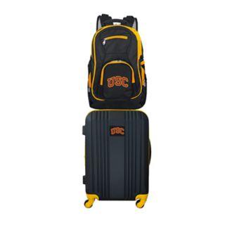 USC Trojans Wheeled Carry-On Luggage & Backpack Set