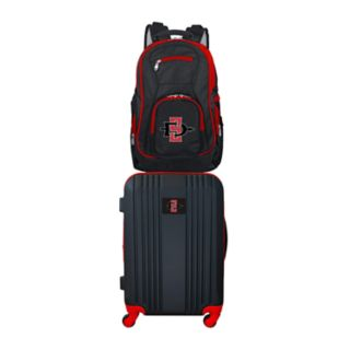San Diego State Aztecs Wheeled Carry-On Luggage & Backpack Set
