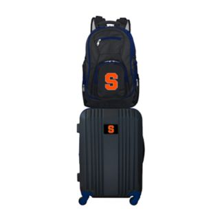 Syracuse Orange Wheeled Carry-On Luggage & Backpack Set