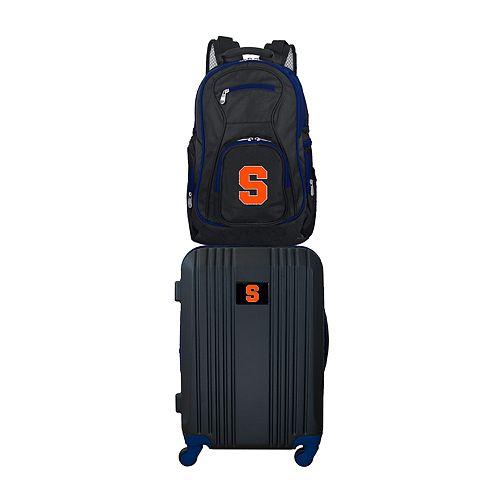 Syracuse Orange Wheeled Carry-On Luggage & Backpack Set