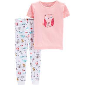 Toddler Girl Little Planet Organic by Carter's Owl Graphic Tee & Print Pants Pajama Set