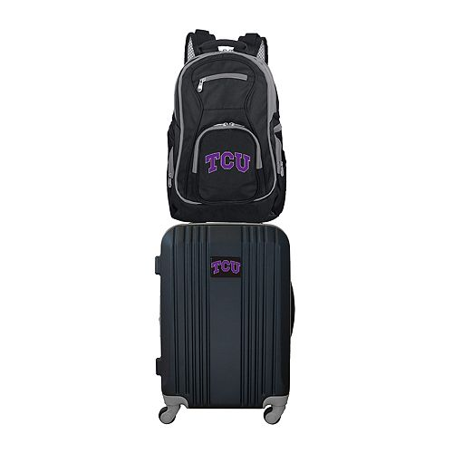 TCU Horned Frogs Wheeled Carry-On Luggage & Backpack Set