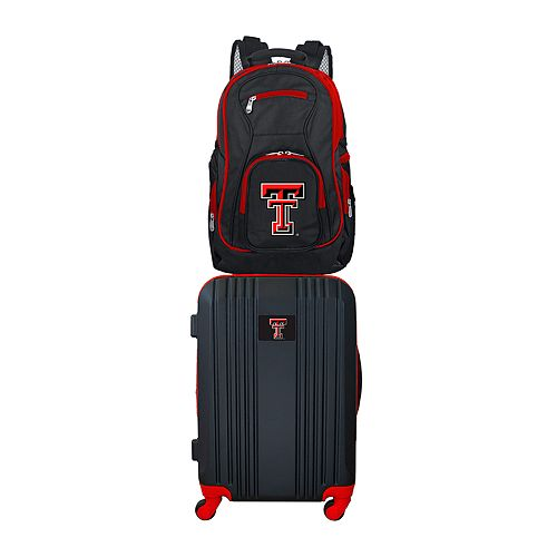 Texas Tech Red Raiders Wheeled Carry-On Luggage & Backpack Set